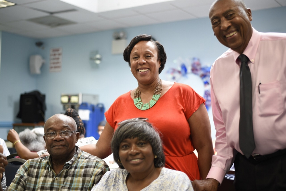 Assemblywoman Hyndman visiting seniors at Alpha Phi Alpha Senior Center<br />