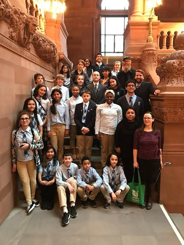 Assemblyman Barnwell had the honor of meeting some of the staff and students from Growing Up Green Charter School in Long Island City. He was able to meet them both in Albany and during a tour of their facility on February 10, 2017<br />