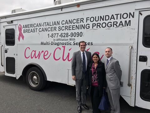 On April 19, 2017, Assemblyman Barnwell had the honor of joining with Senator Gianaris and Councilman Van Bramer to offer free mammogram services to the constituents in their districts.  Thank you to the American Italian Cancer Foundation for providing this vital service.<br />
