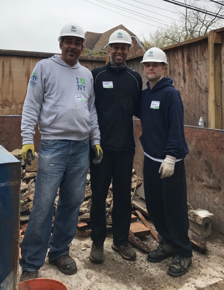 On April 21, 2017, Assemblyman Barnwell joined with Habitat for Humanity, and Assemblyman Vanel to help construct a home in Queens.          <br />