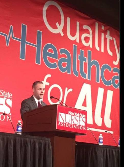 On April 25, 2017, Assemblyman Barnwell had the privilege of speaking at a New York State Nurses Association Event to advocate for safe staffing.<br />