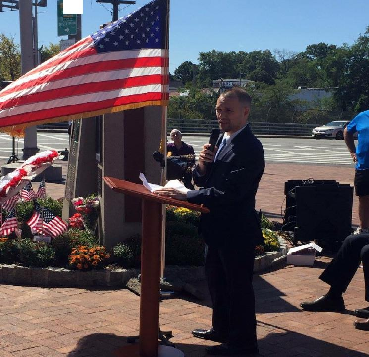 Assemblyman Barnwell, spoke at various 9/11 memorials throughout the community, honoring those who lost their lives that horrific day, and the years that have followed, due to terrorism.  We must NEVER forget.