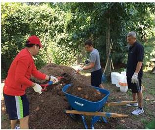 On July 22nd, Assemblymember Barnwell's office and volunteers cleaned up Elmhurst Park.<br />