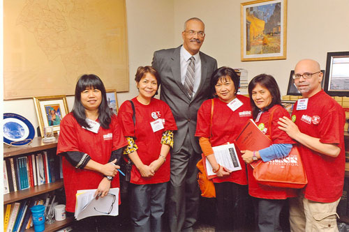 Assemblyman Aubry & Queens, NY representatives from the New York State Nurses Association Lobby Day 2011.