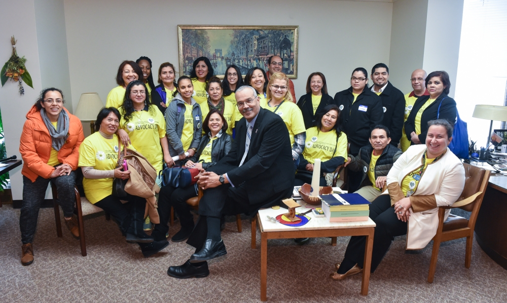 Representatives from Plaza del Sol come to Albany on Lobby Day.<br />&nbsp;