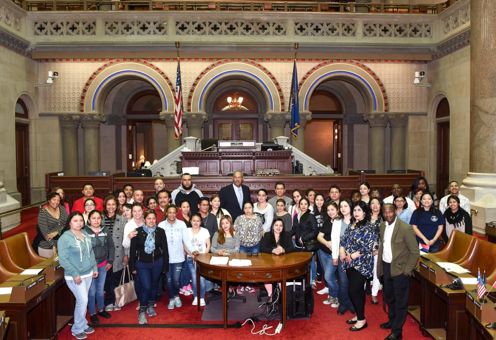 Students, teachers, & parents from P.S. 127 in Queens visit Assemblyman Aubry at the State Capitol, May 17, 2016.