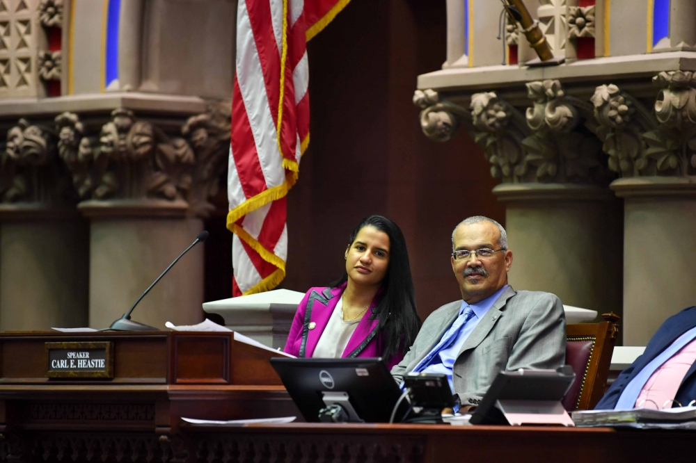 Assemblyman Aubry with newly elected Assemblywoman Ari Espinal (AD #39), a Corona native.