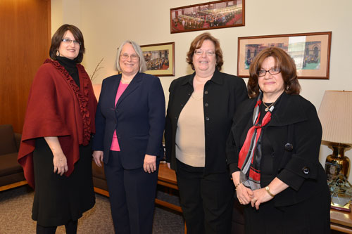 Assemblywoman Catherine Nolan with Assemblywoman Weinstein and members of Agudath Israel