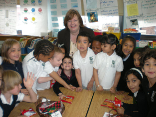 Assemblywoman Nolan visited with students from the Growing Up Green Charter School in Long Island City.