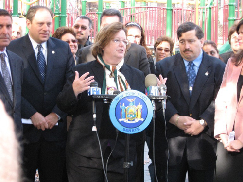 I attended a press conference with Assemblymembers Rory Lancman and Mike Miller and State Senator Jeff Klein to inform Queens residents about the sex offender registry.