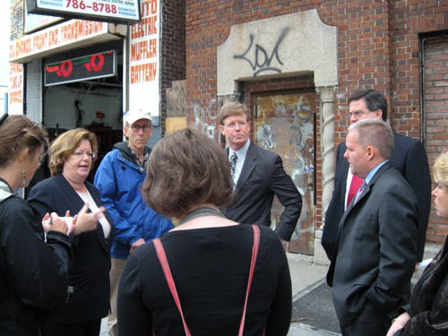 I was joined by City Council Member Jimmy Van Bramer, Community Board 5 President Joe Conley, and other community leaders to voice our concern about a strip club opening up in Long Island City.