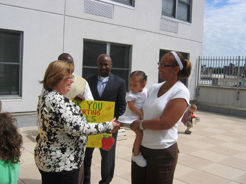 LearnNY parents and kids came stopped by on Sunnyside office to thank me for the work that the Assembly did on the school governance legislation.