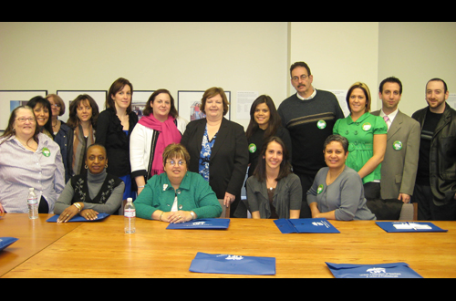Assemblywoman Cathy Nolan met with teachers from Queens during their annual day in Albany.