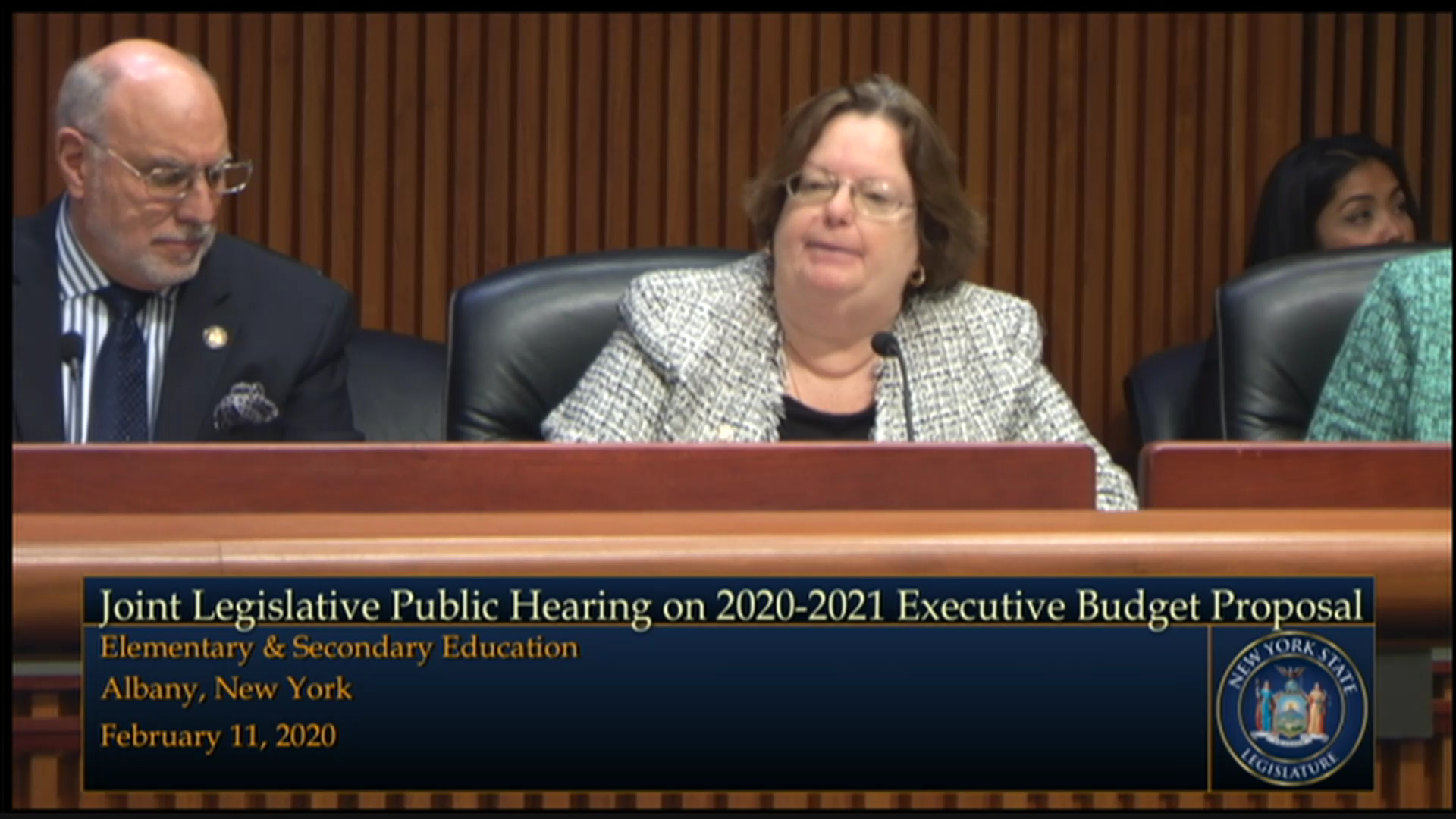 Education Commissioner Testifies During Budget Hearing on Elementary and Secondary Education
