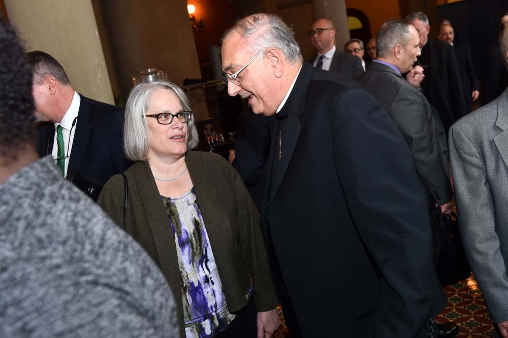 Assemblywoman Weinstein met with Bishop Nicholas DiMarzio of the Brooklyn to discuss various Parochial and Private School issues including the Education Investment Tax Credit during his visit to Albany.