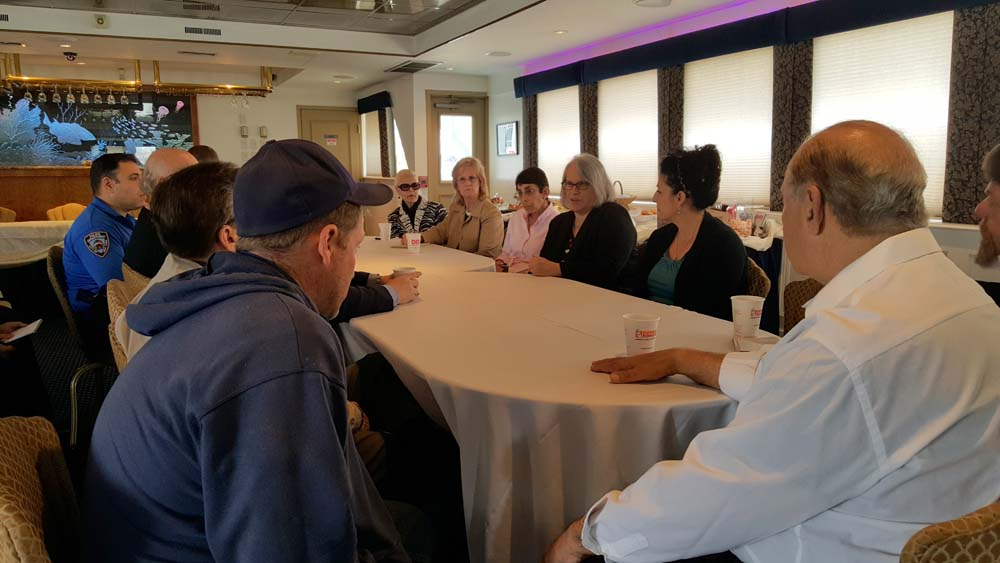 Sheepshead Bay boat owners met with local elected officials and representatives from the Parks Department and NYPD to review procedures to ensure their boating events don't affect the quality of life