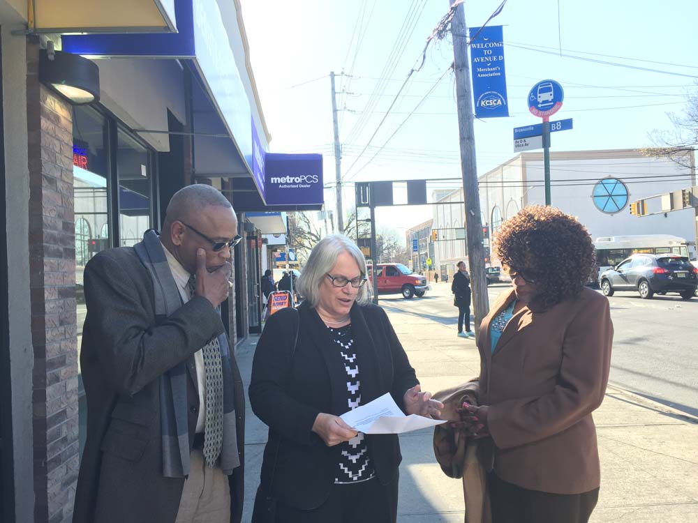 Assemblywoman Weinstein met with President of the Avenue D Merchants Association, Terrence Lapierre and Joan Irish, a local business owner and member, to discuss their concerns about the negative impacts the Utica Avenue Select Bus Service route might have on local businesses.