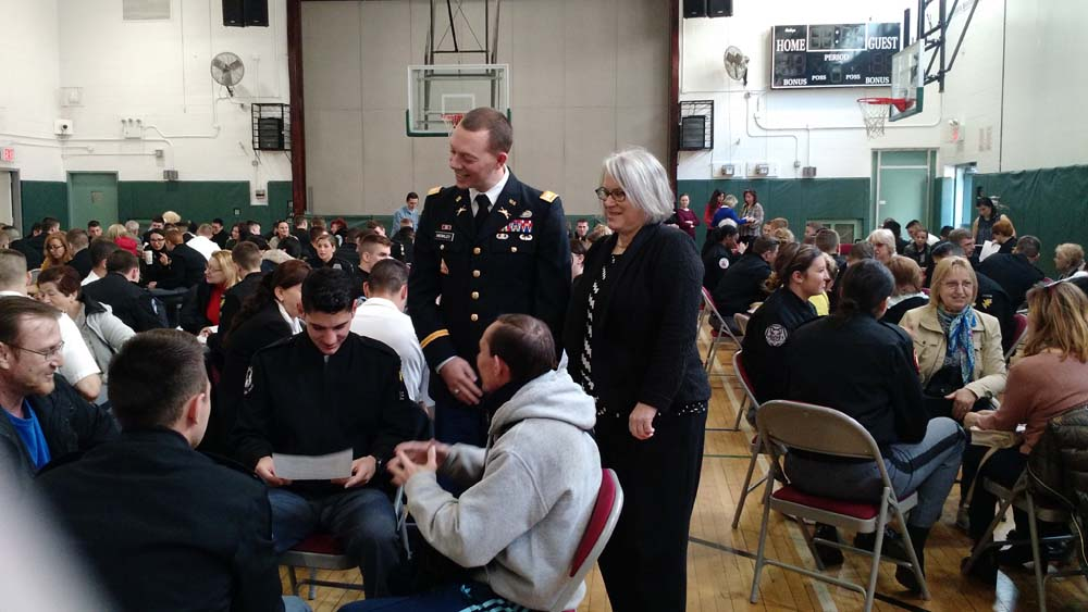 Assemblywoman Weinstein was on hand as Cadets from West Point Military Academy practiced conversational Russian with members of the Shorefront Y.