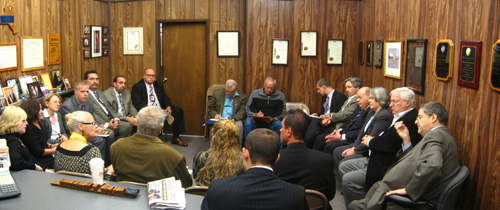 Assemblywoman Helene Weinstein along with Councilman Lewis Fidler, Assemblyman Alan Maisel and Senator Carl Kruger recently hosted a meeting at her office with community residents and MTA officials regarding the disruption of Subway service due to renovations along the B/Q line. Also discussed, was the impact of the recent elimination of several BM3 bus stops.