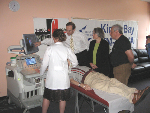 Dr. Daniel Branovan, President of the Chernobyl Project demonstrated to Assemblywoman Weinstein how, with the use of advanced scanning technology, trained Doctors can detect thyroid cancer at its earliest stages. The Assemblywoman advocated on behalf of this vital project and was able to secure over $1 Million for these life-saving screenings.