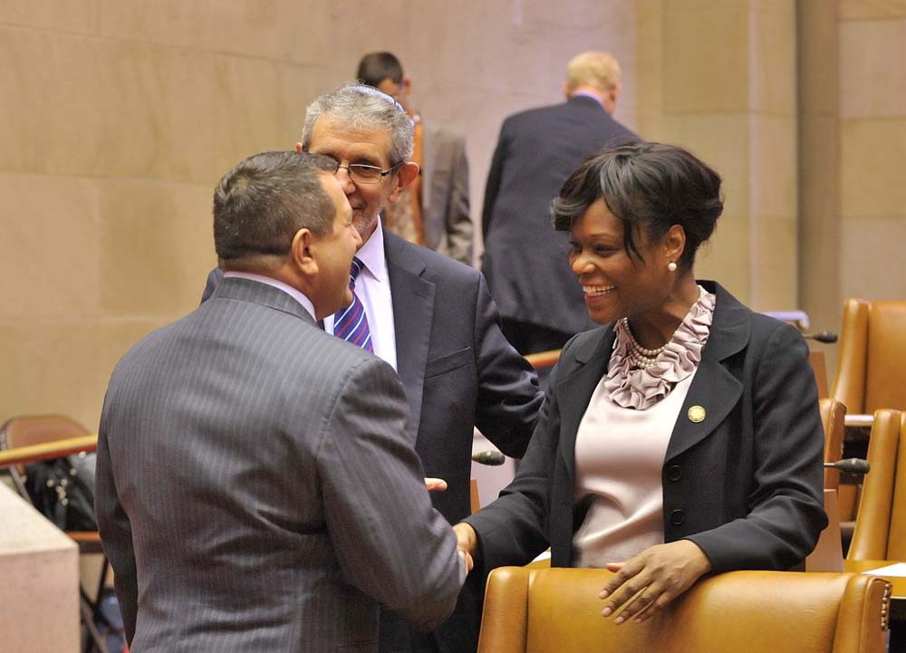 Assemblymember Bichotte is introduced to Assembly Majority Leader Joe Morelle.