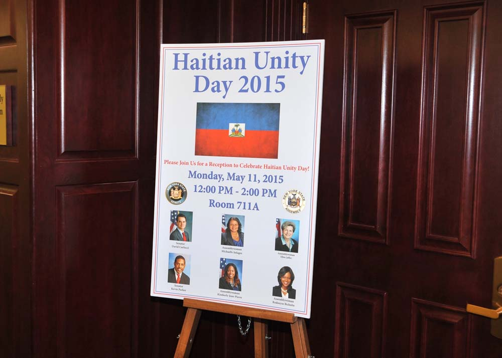 Assemblymember Bichotte serves as co-host to a reception to celebrate Haitian Unity Day.
