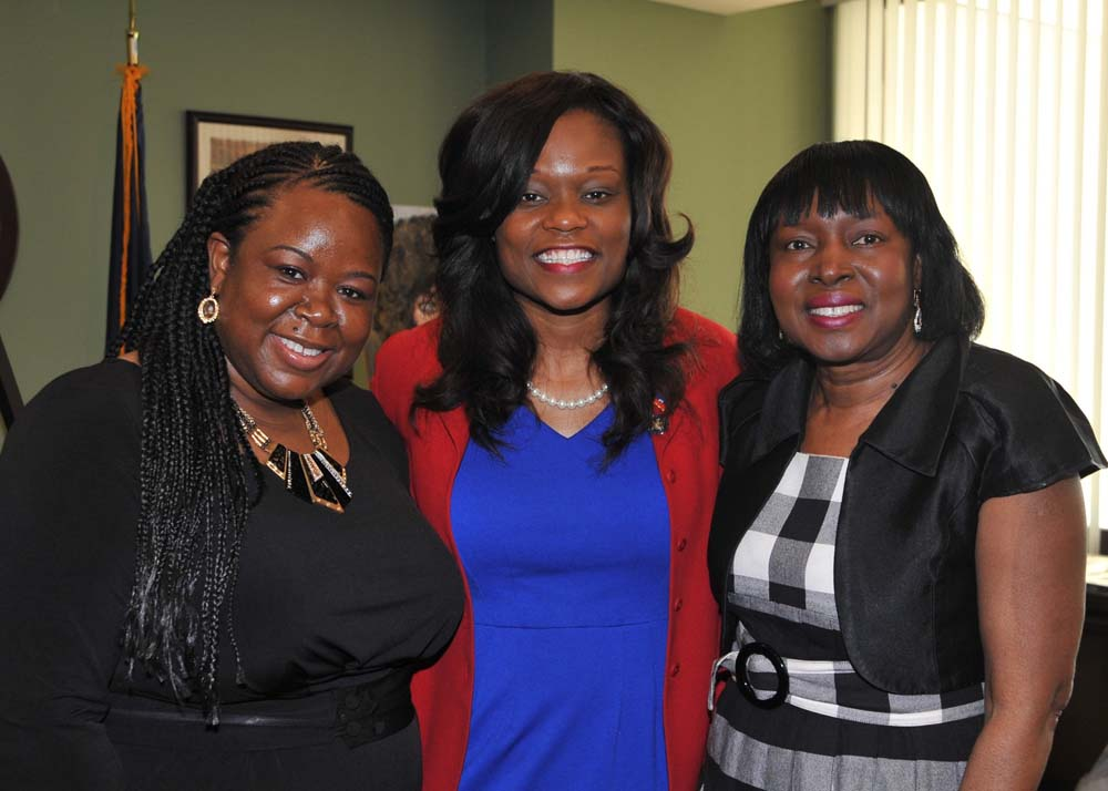 Assemblymember Bichotte meets with guests who attended Haitian Unity day on May 15.