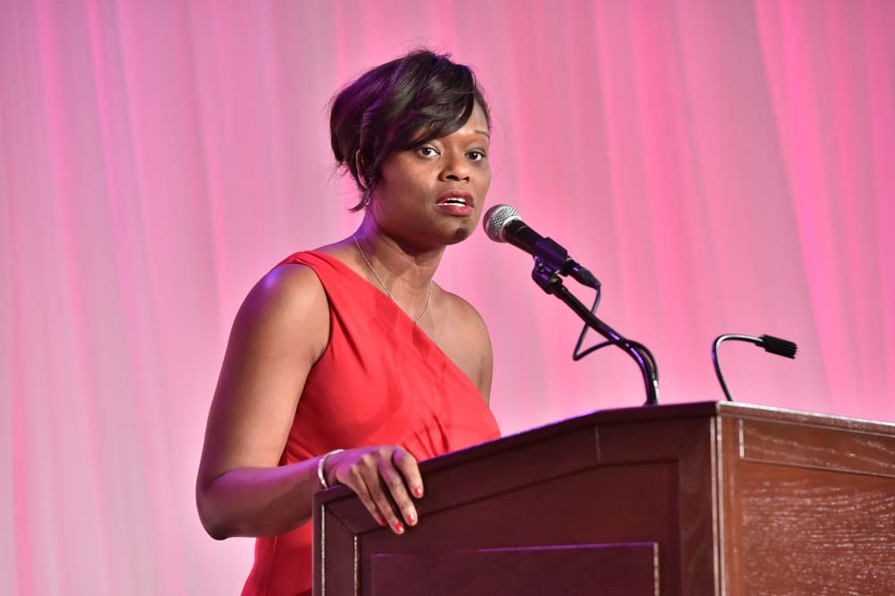 Assemblymember Bichotte speaks at the 45th Annual Scholarship Gala during the 2016 Black and Hispanic Caucus at the Empire State Convention Center in Albany.