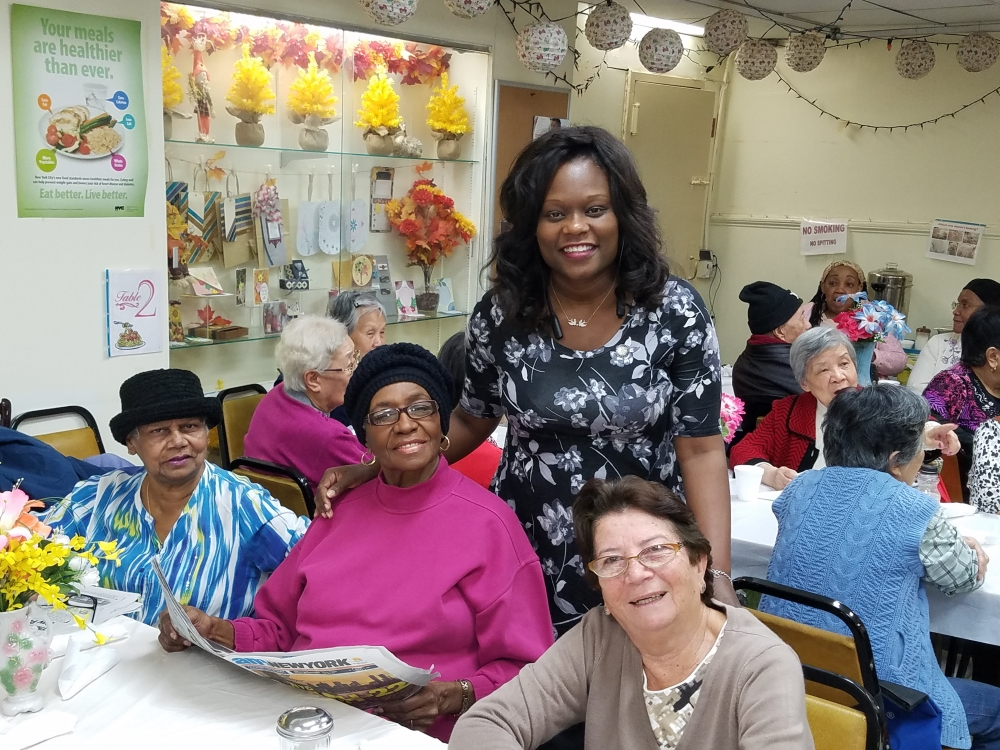 Assemblymember Bichotte donated turkeys to Dorchester Senior Center and joined the seniors for their Thanksgiving luncheon.<br />