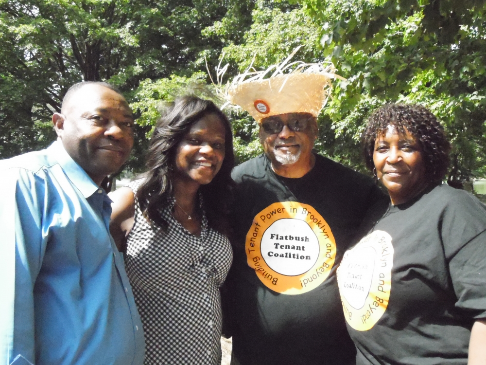 Assemblymember Bichotte joined members of the Flatbush Tenant Coalition (FTC) at their annual picnic. Pictured here are FTC members Thomas Williams, and Betty King.<br />