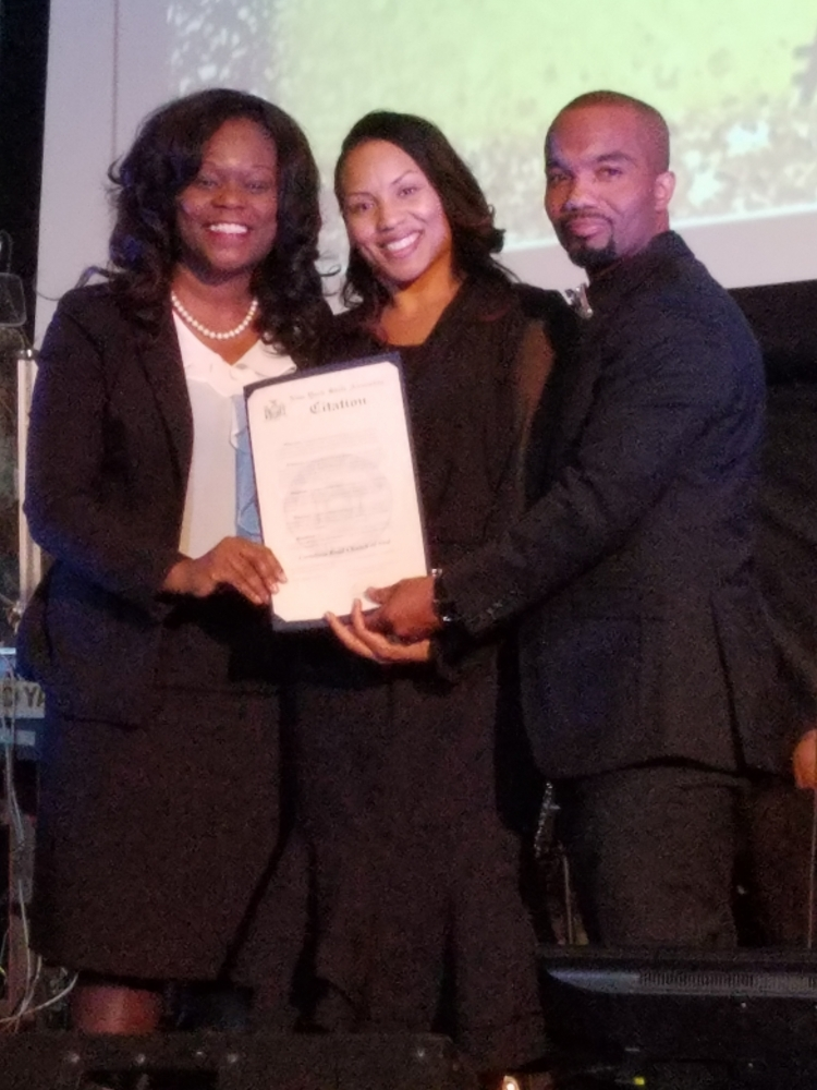 Assembly Member Rodneyse Bichotte presents Pastors Diane and Richard St. Surin of the Cortelyou Road Church of God with a citation commemorating the church's 50th Anniversary.<br /> <br /><br /> <br />