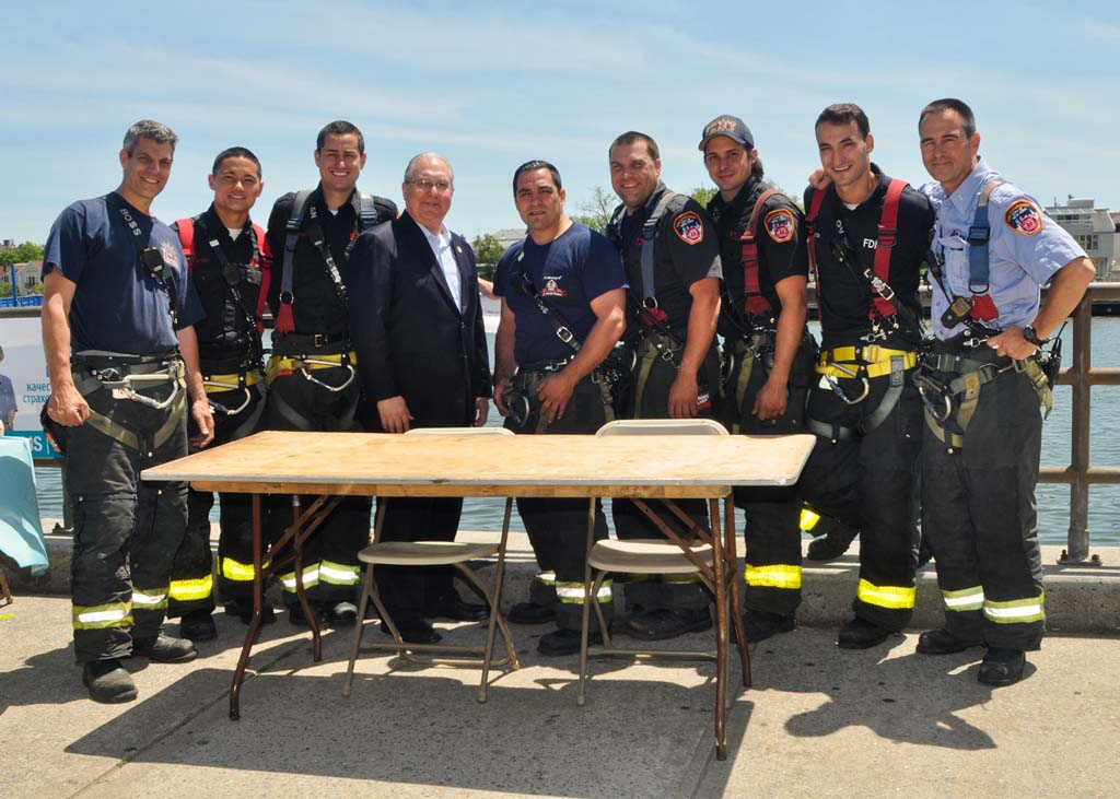 Assemblyman Cymbrowitz with some of New York�s Bravest.