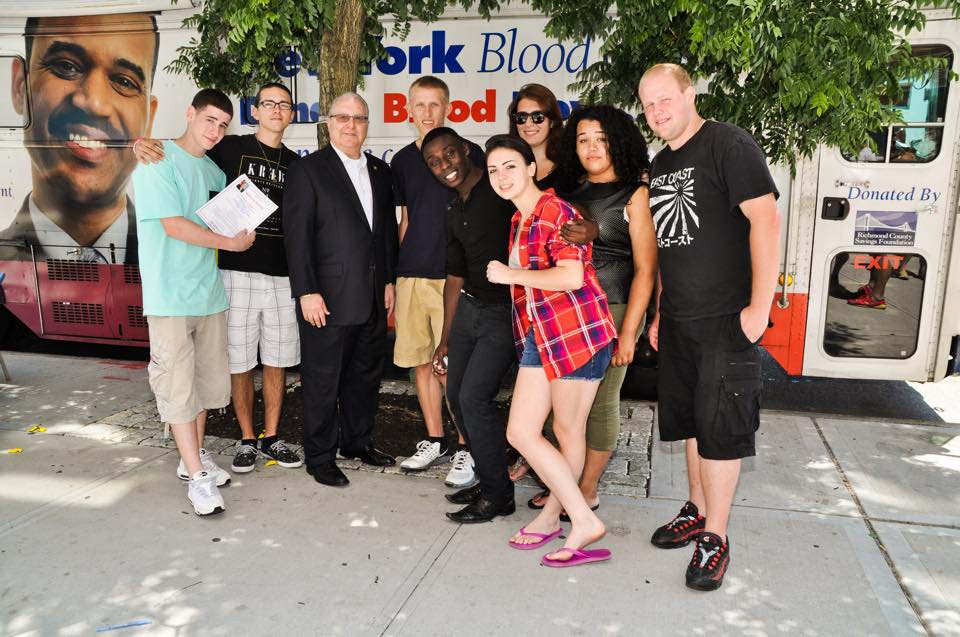 Assemblyman Cymbrowitz with members of Dynamic Youth Community, who volunteered for the annual blood drive he sponsored on Emmons Avenue and Sheepshead Bay Road in partnership with the New York Blood