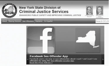 To access the sex offender registry visit: www.criminaljustice.state.ny.us ...