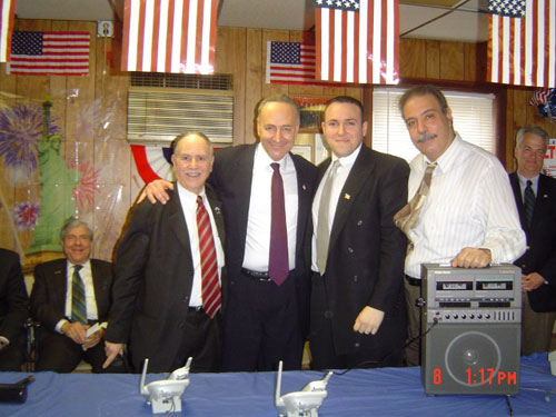 Assemblyman Colton is seen here with U.S. Senator Chuck Schumer and two members of his Brooklyn staff Mark Treyger and Charlie Ragusa.