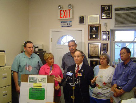 Assemblyman Colton held a press conference in his District Office to promote his AffordNYC card, which would be used to give New York City residents a discount on a wide range of goods and services from transportation to local entertainment. Assemblyman Colton is understands that the rising cost of living in New York City is driving longtime residents out of their homes. He believes that all people, not just the wealthy, should be able to live where they work and enjoy the greatest city in the world.