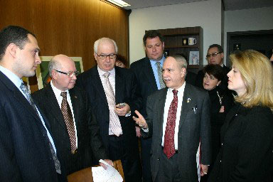 Assemblyman Colton is seen here meeting with advocates for the Russian-American community in NYC.  Assemblyman Colton has legislation which would provide voting materials translated in Russian to be printed and distributed. Currently the NYC Board of Elections excludes Russian from a list of required languages that they must accommodate. The growing Russian-American population in NYC, especially in Brooklyn, calls for the need of expanding their right to exercise the freedoms they came to this country for. Voting is the most important right in an open and free democracy and he believes that it must be protected and expanded for all Americans regardless of origin or language.