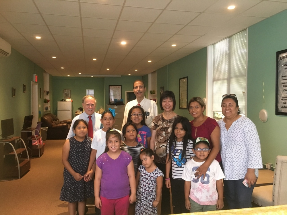 Most Precious Blood summer youth program visited by Assemblymember William Colton and Community Leaders Nancy Tong and Charles Ragusa.<br /> <br />