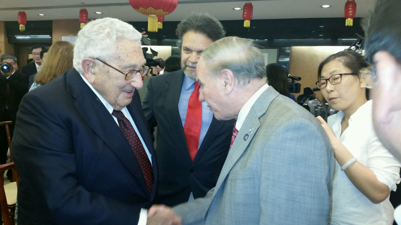 Assemblymembers William Colton and Felix Ortiz meeting with former Secretary of State Henry Kissinger.<br /> <br />