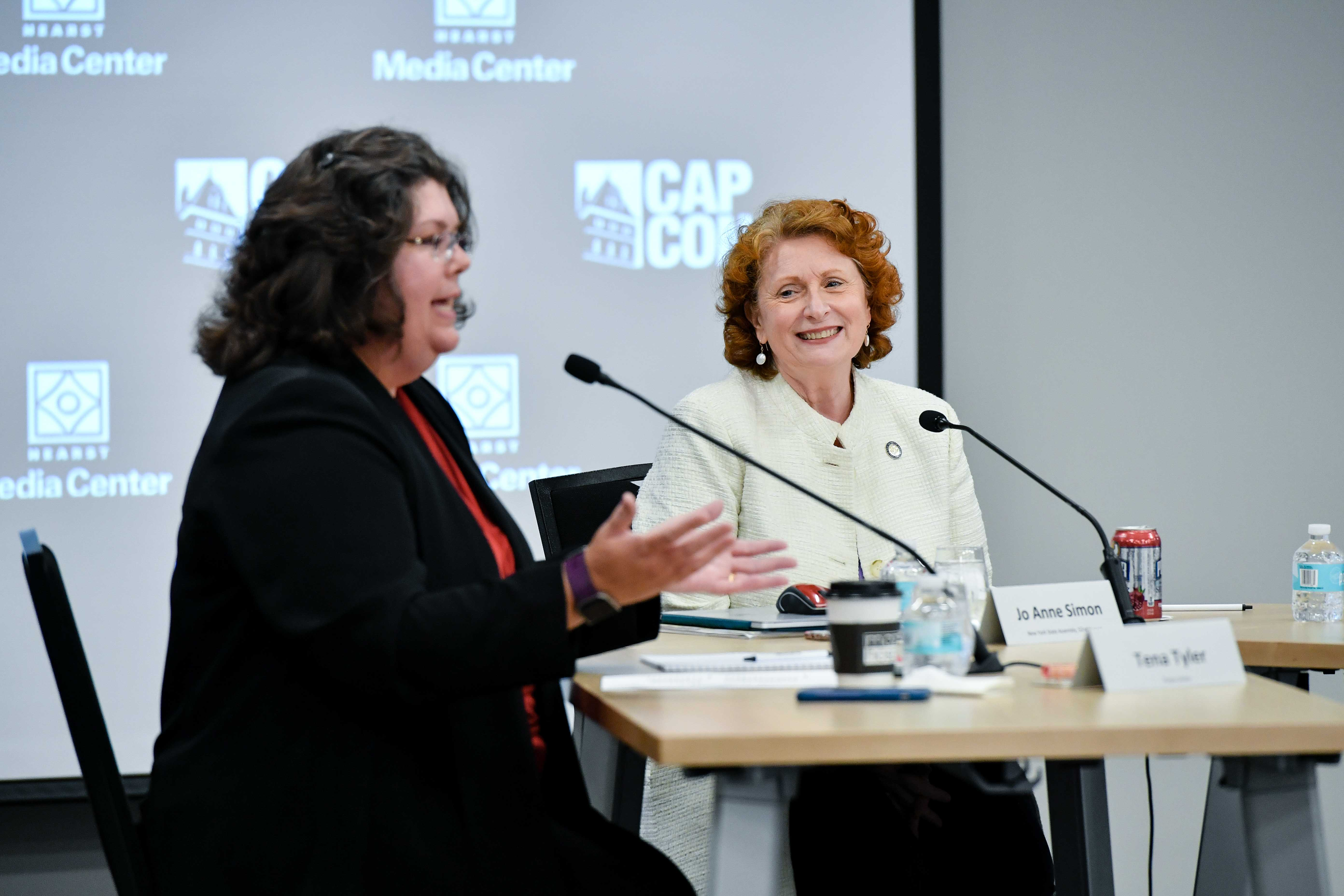 Assemblymember Jo Anne Simon participates in a panel discussion on the #MeToo movement and sexual misconduct.