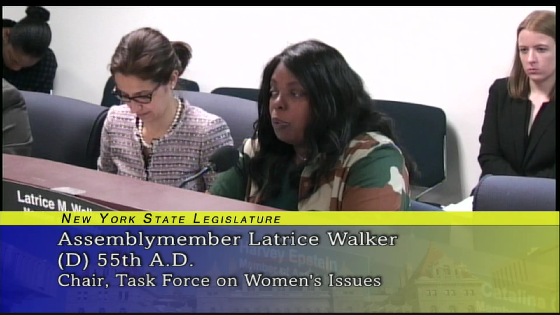 Walker: Public Hearing on Sexual Harassment in the Workplace