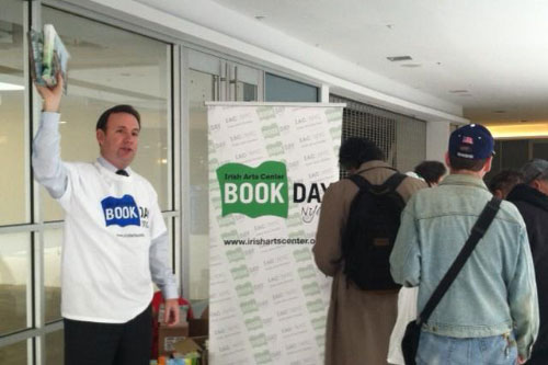 Assemblyman Cusick hands out Free Books in Honor of St. Patrick.