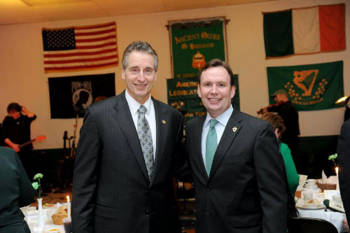 Assemblyman Michael Cusick, President of the American Irish Legislators Society and Lt. Governor Bob Duffy at the annual American Irish Legislators Society dinner