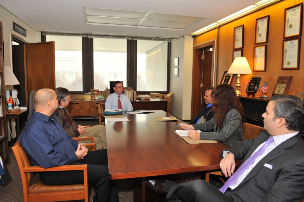 Research Scientists from the College of Staten Island visited Assemblyman Cusick in Albany at the State Capitol on Monday, January 12, 2014.