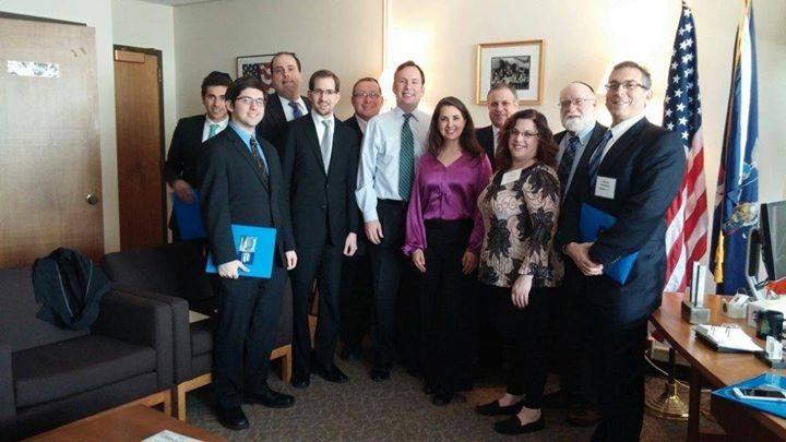 The UJA Federation of New York traveled to Albany in March to meet with Assemblyman Michael Cusick and Assemblyman Michael Simanowitz on their legislative agenda.