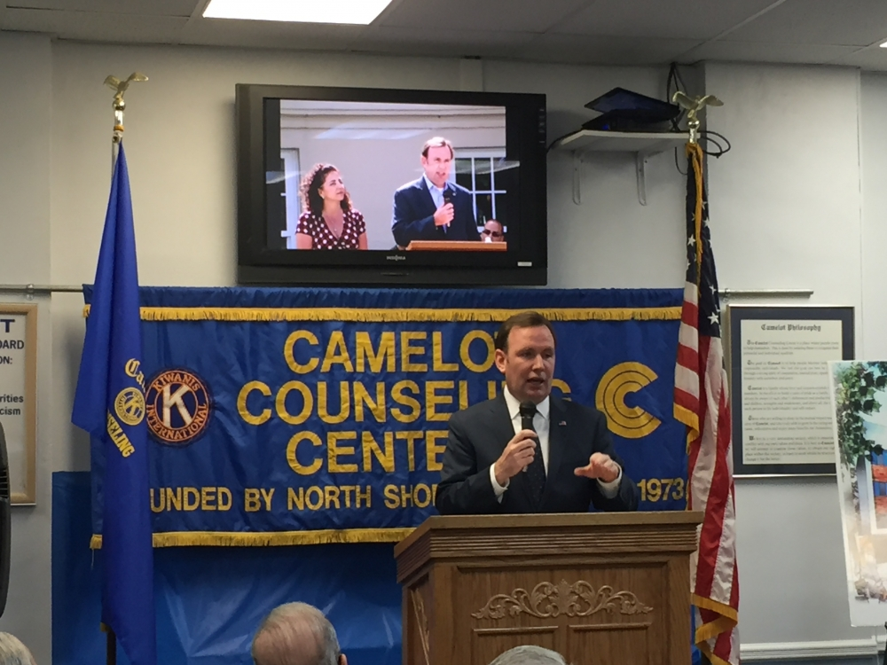 Assemblyman Michael Cusick speaks at Camelot Counseling Center to announce $1 million in state funding to expand their facilities.