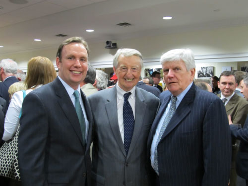 Reception for Prime Minister of Ireland Enda Kenny May 4th 2011 – from left Bernard Hayes and Ronnie Harnisch.