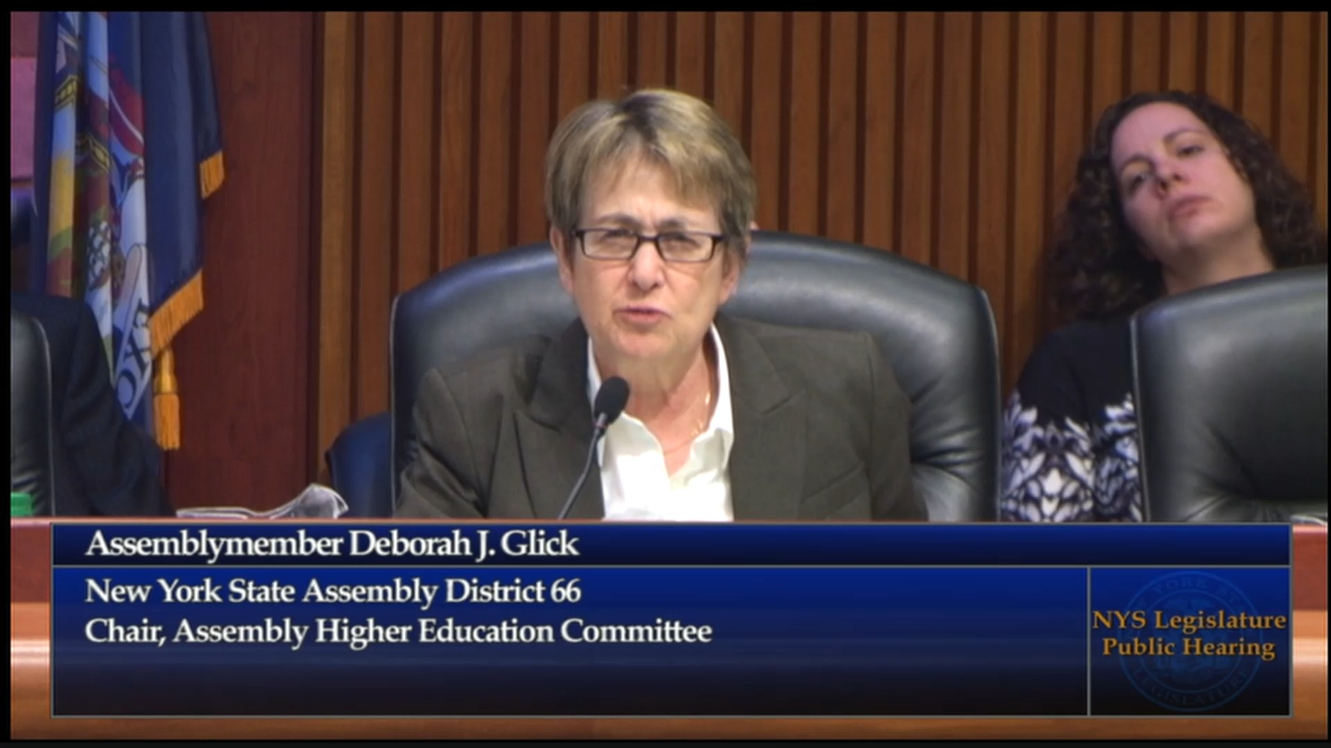 Glick Discusses Tuition Assistance Program (TAP) Funding