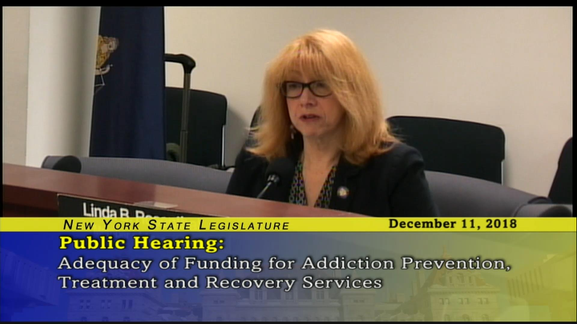Rosenthal Fights For Funding to Aid Addiction Prevention Efforts