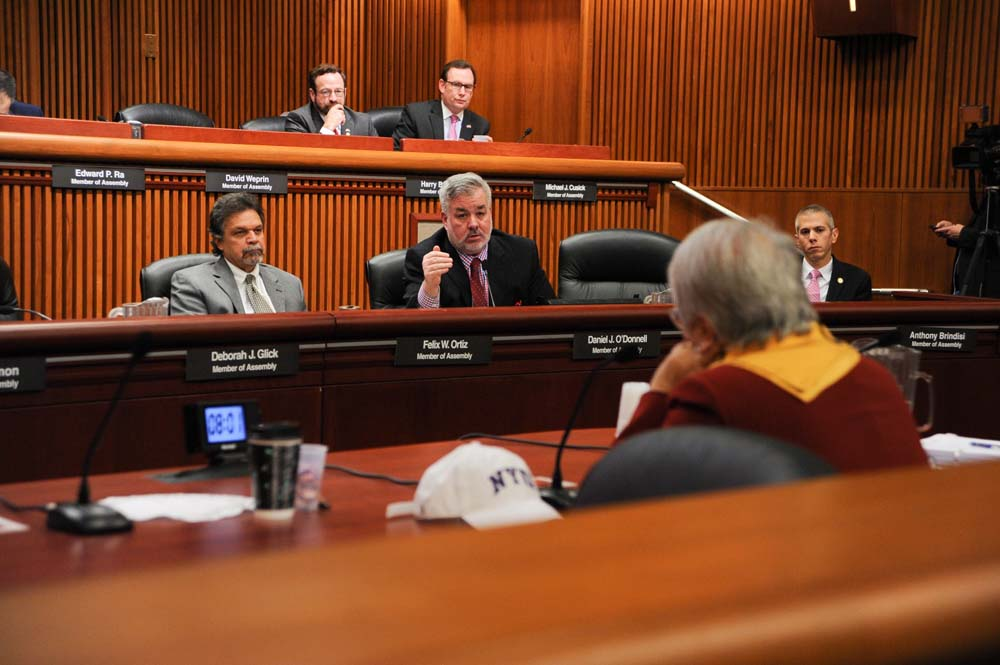 Assemblymember O'Donnell attends the 2016 Budget Hearing regarding Elementary and Secondary Education in January 2016.